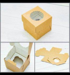 Коробка для капкейков и маффинов