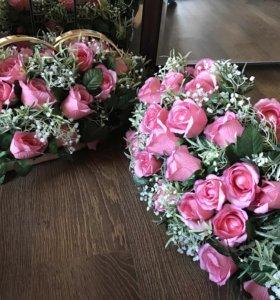Счастливое свадебное украшение✨