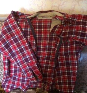 Тёплая рубашка, куртка на молнии