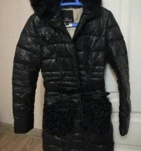 Куртка зимняя с отделкой нат.меха (козлик)