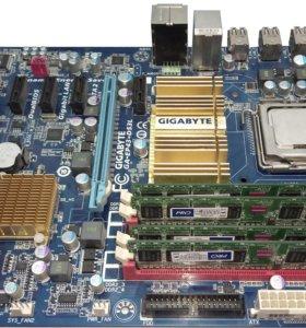 Материнская плата LGA 775 + E8500 + 4 GB