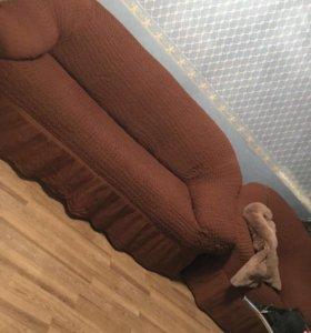 Универсальный чехол на диван кресло