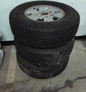 Колеса (шины на дисках) на Mitsubishi Pajero