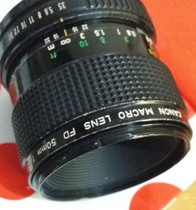 CANON MACRO LENS FD 50mm/3,5 made in Japan