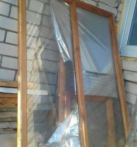 Окна б/ у деревянные с коробками 1400/ 1500 8 шту