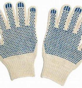 Перчатки с точкой хб 5-нитей