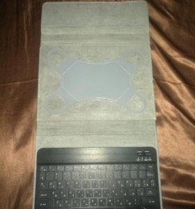 """Беспроводная клавиатура Bluetooth с ун. чехлом 10"""""""