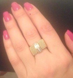 Кольцо золотое с  брилл. 8 гр