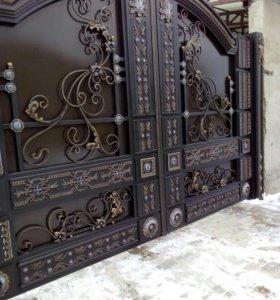 Шикарные ворота и двери.в