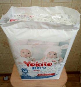Подгузники- трусики Yokito М( 6-11 кг) 58 шт