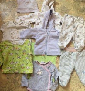 Пакет детских вещей от 0-5 месяцев