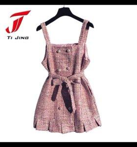 Платье сарафан в стиле Chanel