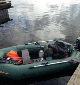 Лодка лидер компакт 265, с мотором Бриз 2,6сил