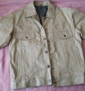Мужская новая куртка кожа натурал