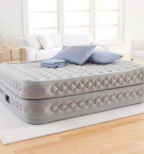 Надувная кровать Премиум ортопедическая с насосом.