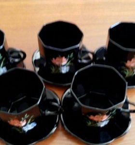 Чайно-кофейный сервиз из закалённого стекла