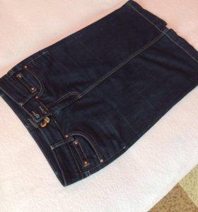 Юбка карандаш джинсовая