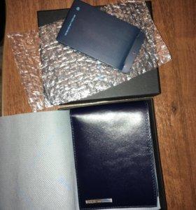 Портмоне (кошелек) Piquadro синее новое