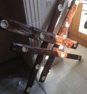 Светильник подвесной, ручной работы
