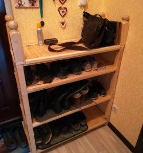 Стеллажи, обувницы)