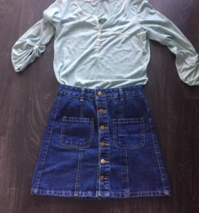 Юбка джинсововая