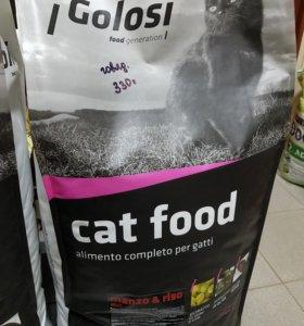 Корм супер премиум Голози для кошек 1кг(вес)Италия