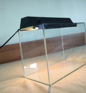 Террариум с лампой для обогрева 39х19х26 см