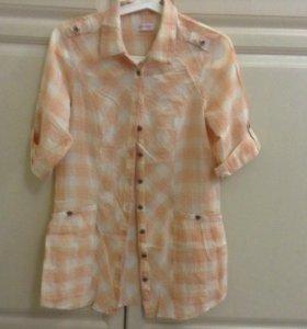 Блузка женская удлиненная, 44 размер.