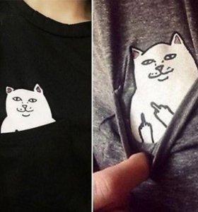 Свитшот с котом новый