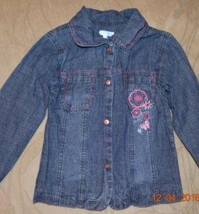 Афигенная джинсовая рубашка на девочку