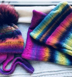 Комплект шапка плюс хомут в два оборота