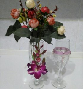 Фужеры вазочки для цветов