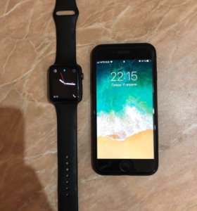 Apple iPhone 7 и Apple Watch