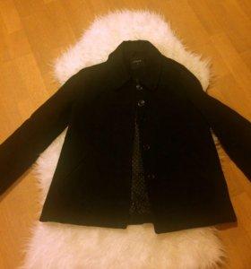 Чёрное пальто трапеция Lindex