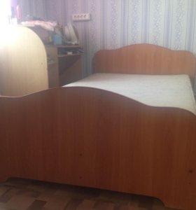 Кровать+матрас.