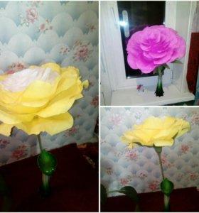 Розы, ручной работы