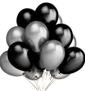 продам шары цифра 21 и набор черно серых шаров