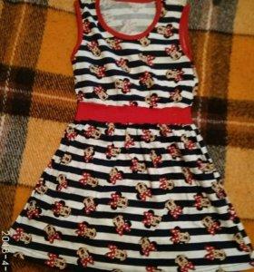 Платье с Минни Маус. Новое.