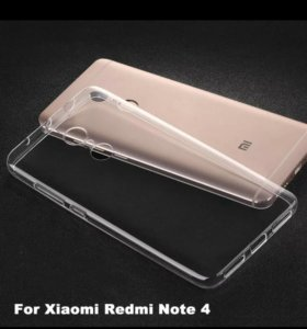 Чехол на xiaomi redmi note 4x новый