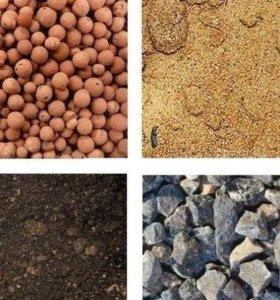 Песок, щебень, глина