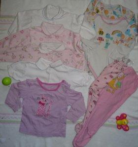 пакет одежды для девочки 74-80
