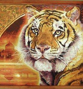 Картина Тигр, живопись.
