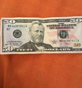 банкнота 50$
