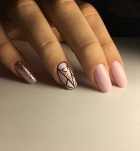 Гель лак/наращивание ногтей