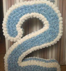 Цифра 2 на день рождения.