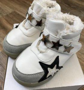 Утеплённые ботиночки