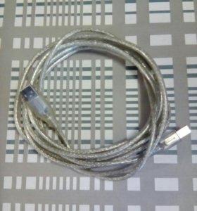 Кабель экранированный USB 3м