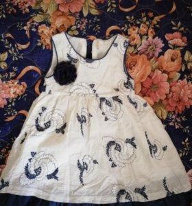 Платье 2 шт одевал и 1 раз