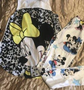 Комплект рубашка и лосины