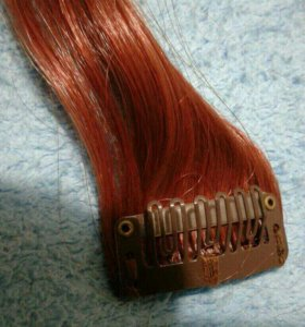 Волосы, прядки на заколках 8шт. 55см